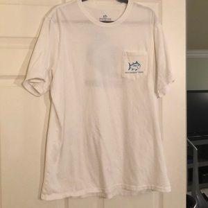 Men's Southern Tide T-shirt. White. Size XL